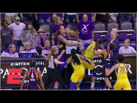 В матче женской НБА произошла потасовка